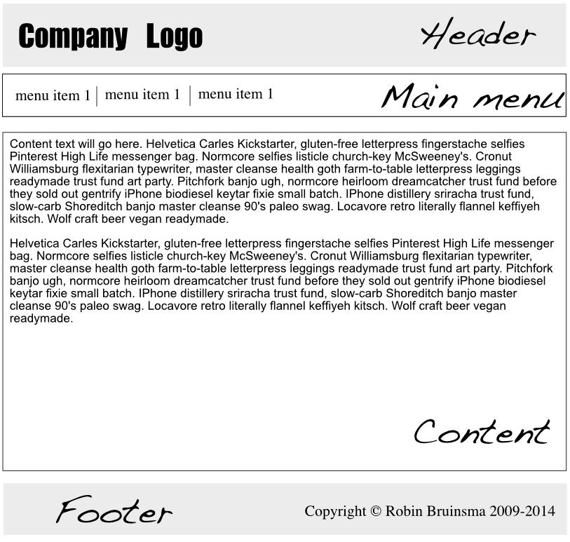WebsiteBaker Help By Devmecom Building A WebsiteBaker Template - Basic menu template